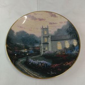 Blossom Hill Church Collector Plate Thomas Kinkade